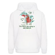 Hoodies ~ Men's Hoodie ~ The World According to Michigan