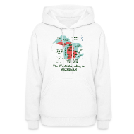 Hoodies ~ Women's Hoodie ~ The World According to Michigan