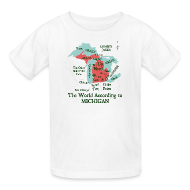 Kids' Shirts ~ Kids' T-Shirt ~ The World According to Michigan