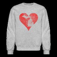 Long Sleeve Shirts ~ Crewneck Sweatshirt ~ Mi Distressed Heart