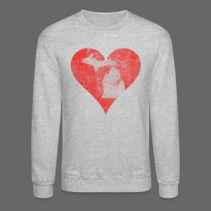 Mi Distressed Heart - Crewneck Sweatshirt