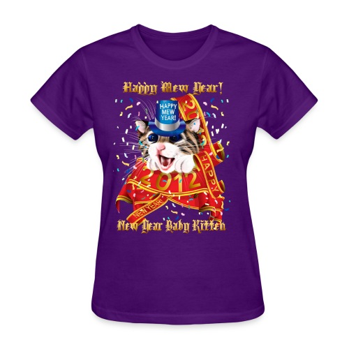 Happy New (Mew) Year 2012 - Women's T-Shirt
