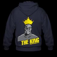 Zip Hoodies & Jackets ~ Men's Zip Hoodie ~ King Megatrip's Punch-Out (Dark)