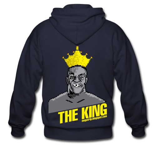 King Megatrip's Punch-Out (Dark) - Men's Zip Hoodie