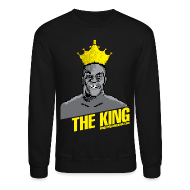 Long Sleeve Shirts ~ Crewneck Sweatshirt ~ King Megatrip's Punch-Out (Dark)
