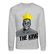 Long Sleeve Shirts ~ Crewneck Sweatshirt ~ King Megatrip's Punch-Out (Light)