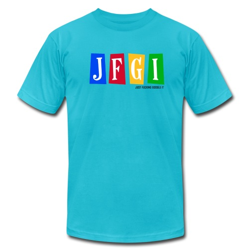 Just F@#king Google It Men's Heavyweight Tee - Men's Fine Jersey T-Shirt