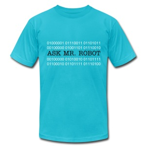 Ask Mr. Robot Binary - Men's T-Shirt by American Apparel