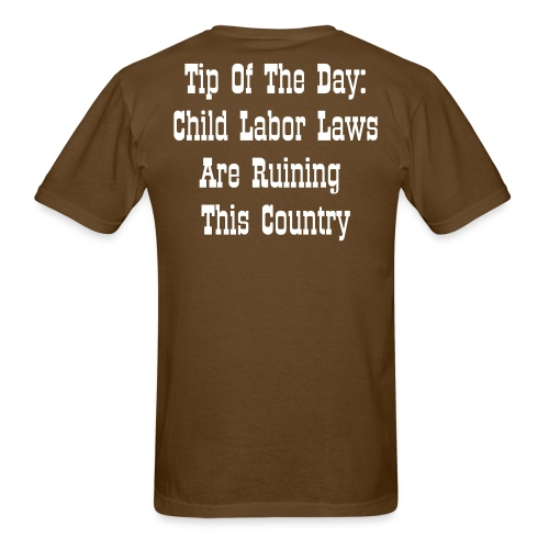 Tip Of The Day Labor Laws - Men's T-Shirt