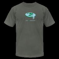 T-Shirts ~ Men's T-Shirt by American Apparel ~ Flat Earth [flatearth]