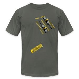 Less Talk More Rokk American Apparel Unisex Tee - Men's Fine Jersey T-Shirt