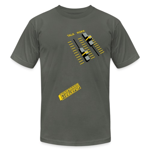 Less Talk More Rokk American Apparel Unisex Tee - Men's  Jersey T-Shirt
