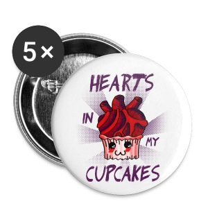 Hearts in my cupcakes - Small Buttons