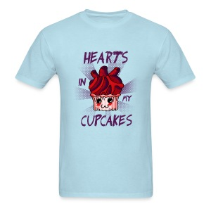 Hearts in my cupcakes - Men's T-Shirt