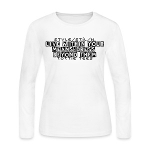 Definition of Style - Women's Long Sleeve Jersey T-Shirt