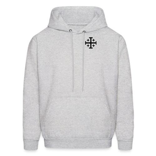 Hooded w/ Black Jerusalem Cross - Men's Hoodie
