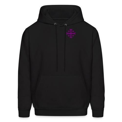 Hooded w/ Purple Jerusalem Cross - Men's Hoodie