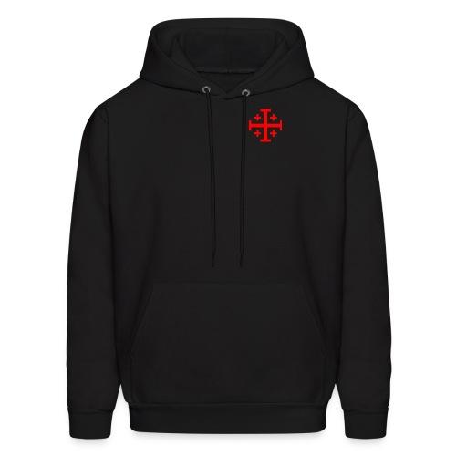 Hooded w/ Red Jerusalem Cross - Men's Hoodie
