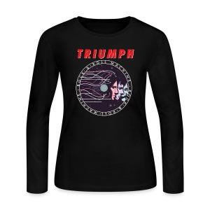 Ladies Rock & Roll Machine Long Sleeve Tee - Women's Long Sleeve Jersey T-Shirt