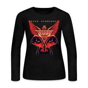 Ladies Never Surrender Long Sleeve Tee - Women's Long Sleeve Jersey T-Shirt