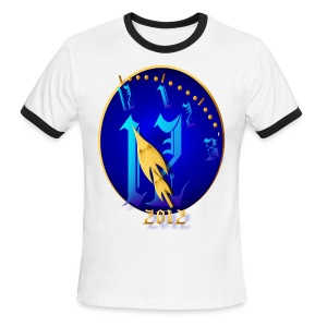 Striking 12 Midnight-2012 - Men's Ringer T-Shirt