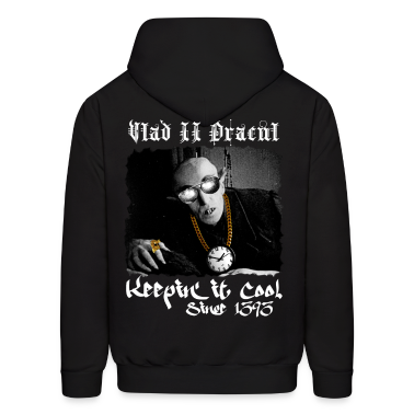 Pimp Dracula - Vlad II Keepin it Cool - White Text Hoodies