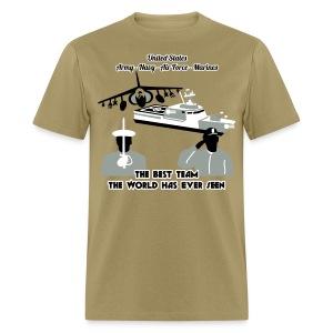 Army - Navy - Air Force - Marine Corps - T Shirt Mens - Men's T-Shirt