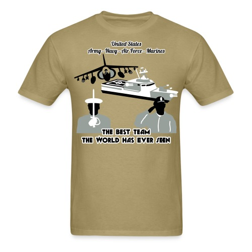 Army - Navy - Air Force - Marine Corps - T Shirt Mens - Men's T-Shirt