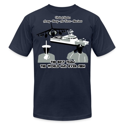 Army - Navy - Air Force - Marine Corps - T Shirt Mens - Men's Fine Jersey T-Shirt