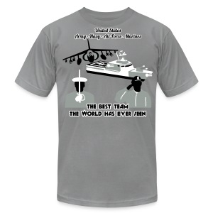 Army - Navy - Air Force - Marine Corps - T Shirt Mens - Men's T-Shirt by American Apparel