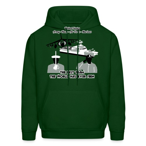 Army - Navy - Air Force - Marine Corps - Mens Hoody - Men's Hoodie