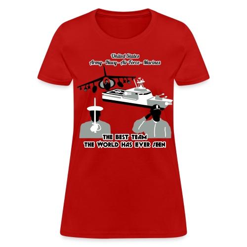 Army - Navy - Air Force - Marine Corps - T Shirt Womens - Women's T-Shirt