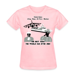 Army - Navy - Air Force - Marine Corps - T Shirt Womens - Women's T-Shirt