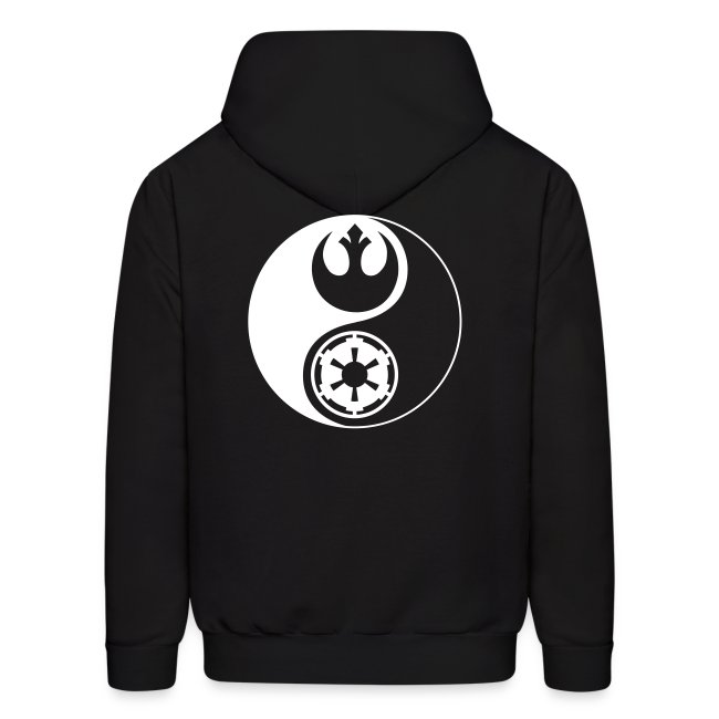Mens Rebel Text Logo Hoodie Star Wars