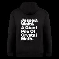 Zip Hoodies & Jackets ~ Men's Zip Hoodie ~ Jesse-Walt-Giant Pile of Crystal Meth