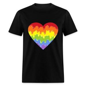 rainbowmeltyheart - Men's T-Shirt