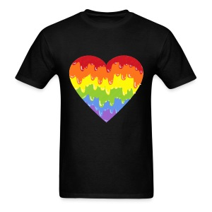 rainbowmeltyheart - Men's T-Shirt
