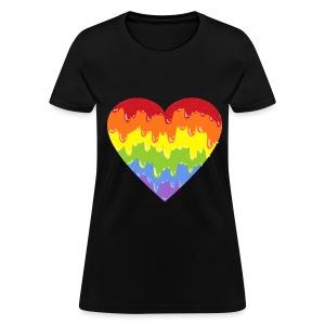 rainbowmeltyheart - Women's T-Shirt