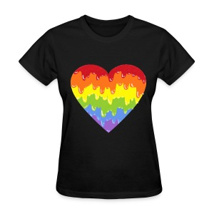 rainbowmeltyheart - Women's T-Shirt