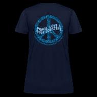 T-Shirts ~ Women's T-Shirt ~ Peace Love & Blue Lobsters (Womens) - back