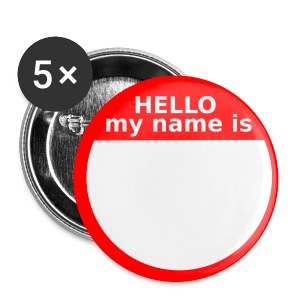 Big Hello my name is Button - Large Buttons