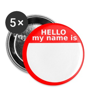 Small Hello my name is Button - Small Buttons
