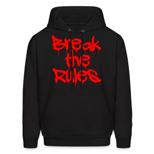 GUYS Break the Rules Hoodie Red - Men's Hoodie