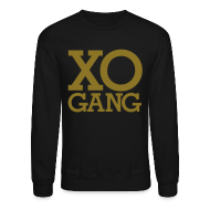 Long Sleeve Shirts ~ Crewneck Sweatshirt ~ XO Gang [gold metallic]