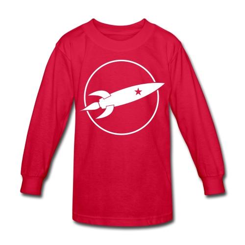 Black and White Rocket - Kids' Long Sleeve T-Shirt