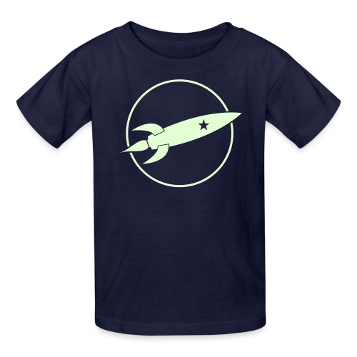 Glowing Rocket (Kid) - Kids' T-Shirt