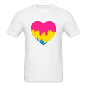 pansexual heart - Men's T-Shirt