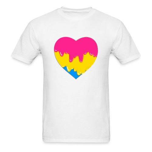 pansexual heart - Men's T-Shirt