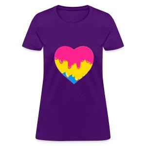 pansexual heart - Women's T-Shirt