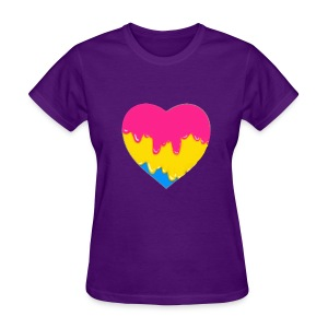 pansexual heart - Women's T-Shirt